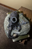 Unique collection of ex Soviet (USSR) gas masks Stock Photography