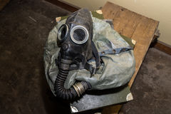 Unique collection of ex Soviet (USSR) gas masks.  Royalty Free Stock Images