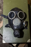 Unique collection of ex Soviet (USSR) gas masks Royalty Free Stock Photos