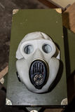 Unique collection of ex Soviet (USSR) gas masks Royalty Free Stock Photography