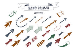 Unique collection of hand drawn arrows. Royalty Free Stock Photography