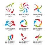 Logo colored arrows Royalty Free Stock Images