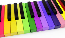 Unique color piano Royalty Free Stock Photography