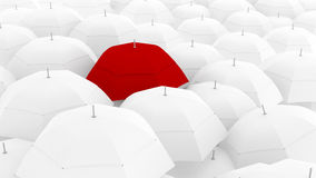 Unique color of umbrella, the leader Stock Photos