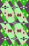 Unique colored  pattern of geometric shapes. Vector. Abstract background. Illustration and decoration. Green and violet, brown, white and black on a image. Oil Stock Image