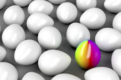 Unique colorful egg Royalty Free Stock Image