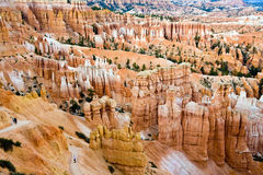 Unique and colorful hoodoo rock formations in the Bryce Canyon Stock Photo