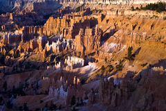 Unique and colorful hoodoo rock formations in the Bryce Canyon Stock Photography