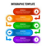 Colorful 5 steps infographic design template. royalty free illustration