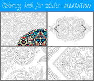 Unique coloring book page for adults - flower Royalty Free Stock Photography