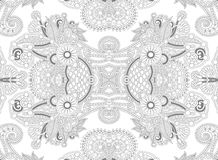 Unique coloring book page for adults - flower Royalty Free Stock Images