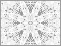 Unique coloring book page for adults - flower Royalty Free Stock Photo