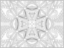 Unique coloring book page for adults - flower Royalty Free Stock Photos