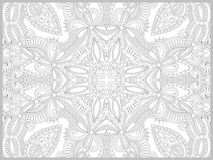 Unique coloring book page for adults - flower Stock Photography