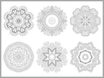 Unique coloring book page for adults - flower Stock Images