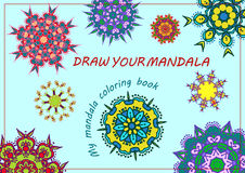 Unique coloring book, rectangular A4 page. Hand drawing zentangle color element Stock Image