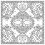 Unique coloring book square page for adults - Royalty Free Stock Photo