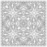 Unique coloring book square page for adults - Royalty Free Stock Image