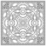 Unique coloring book square page for adults - Royalty Free Stock Photography