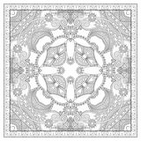 Unique coloring book square page for adults Royalty Free Stock Images