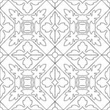 Unique coloring book square page for adults - seamless pattern t Stock Photos