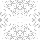 Unique coloring book square page for adults Stock Photography