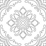 Unique coloring book square page for adults - seamless pattern  Stock Image