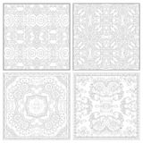 Unique coloring book square page set for adults Royalty Free Stock Photo