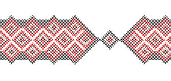 Unique cross-stitch border Royalty Free Stock Photography