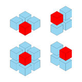 Unique cubes Stock Image
