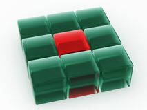 Unique Cubes in Square Formation Royalty Free Stock Photos