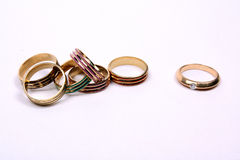 Unique Diamond Ring Stock Image