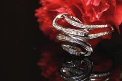 Unique diamond ring Stock Photo