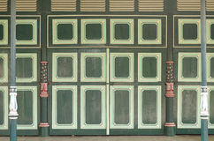Unique doors and pillars in Yogyakarta Sultanate Palace Royalty Free Stock Photos