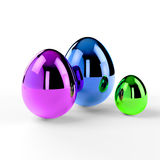 Unique easter eggs Stock Photography
