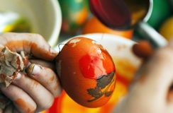Unique Easter eggs painting Stock Image