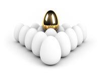 Unique egg above the crowd. Leadership concept Stock Photos