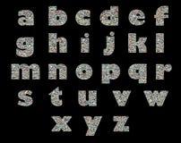 Unique English alphabet -collage of travel photos Royalty Free Stock Photos