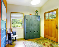 Unique entryway to home with very colorful interior. Stock Images