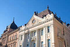 Examples of representative Romanticism palaces. Examples of representative palaces in Romanticism architecture style are located on the central Square in stock photo