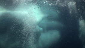 Unique Filming Shooting of iceberg under water. Beautiful landscapes amazing underwater world nature and its inhabitants in clean cold blue waters of sea ocean stock video footage