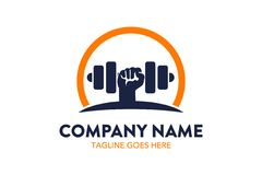 Unique fitness and gymnastic logo template. Simple shape. minimalist color. memorable vector illustration