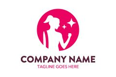 Unique fitness and gymnastic logo template. Simple shape. minimalist color. memorable Stock Photos