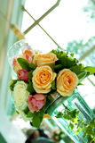 Unique flower bouquet. Unique and beautiful flower bouquet for a wedding ceremony Royalty Free Stock Photography