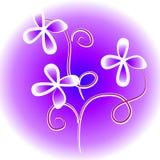 Unique Flowers Clip Art Purple Stock Image