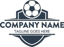 Free Unique Football Soccer Related Logo Template. Vector. Editable Stock Photo - 104493030