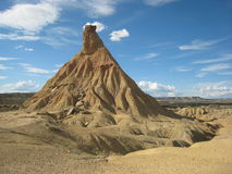 Unique formation, a lonely strange hill stock photography