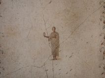 Unique frescoes of Pompei villas Stock Photo