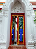 Unique gate with two guardian statues of Wat Ratchabopit Stock Image