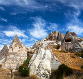 Unique geological formations in Cappadocia, Central Anatolia, Tu Stock Image